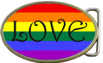 LGBT LOVE Belt Buckle